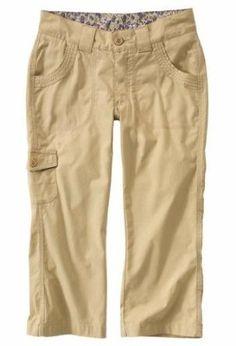 Carhartt WB066 Women's Trail Cropped Pant Light Khaki Size 10 Carhartt. $17.99