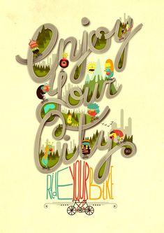 Enjoy your city by Juan Carlos Paz Gómez AKA -BAKEA-, via Behance