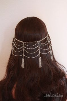 Trendy Silver Draped Chains Multichain hair by LiveLoveLeaf, $49.00