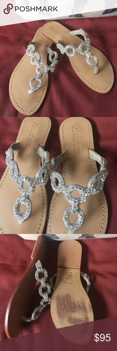 Johnny Was Absolutely Gorgeous Bling Sandals Excellent condition, no missing stones Johnny Was Shoes Sandals