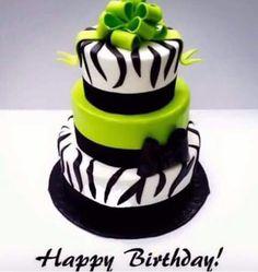 Lime Green Birthday Cake Cakes Pinterest Green birthday