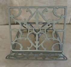 Vintage Collapsible Brass Metal Scrollwork Bible book stand cookbook holder