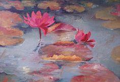 Pink Waterlilies Painting