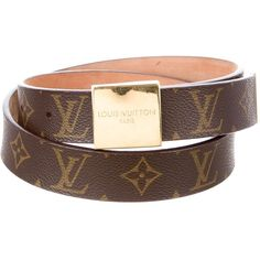 Pre-owned Louis Vuitton Monogram Belt (435 NZD) ❤ liked on Polyvore featuring accessories, belts, brown, louis vuitton, logo belts, brown belt, monogram belt and buckle belt