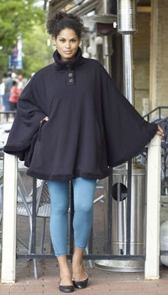 Denali Cape. I really like the freedom a cape offers versus a jacket or coat. Super fun!