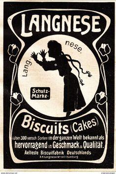 Werbung - Original-Werbung/ Anzeige 1901 - LANGNESE BISCUITS (CAKES / KEKS) - ca. 75 x 115 mm