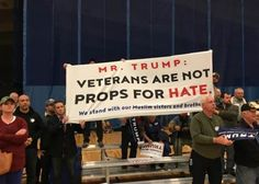 """A new group by the name of """"Veterans Challenge Islamophobia"""" called out Donald Trump for his bigoted attacks on Muslims."""