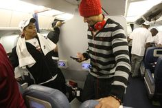 Colin Kaepernick on the plane