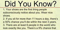Did You Know? (20 Amazing Facts)