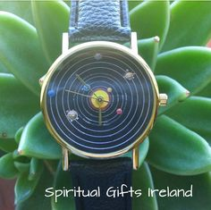 For all you Astrology Lovers, this Planet Watch is for you.   A unique watch, illustrating the planets in our solar System. Ancient astrologers believed the planets represented the will of the gods and their direct influence upon human affairs.     Available in 2 colours: Black or White. Strap length: 225mm x 20mm       Face size: 35mm x 35mm   Strap made from faux leather. All watches come with a fully working battery.