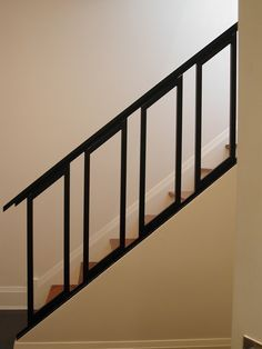 9 Unbelievable Tips: Contemporary Farmhouse Outdoor contemporary stairs hallways. Modern Staircase Railing, Stair Railing Design, Iron Stair Railing, Stair Handrail, Modern Stairs, Staircase Ideas, Staircases, Contemporary Stairs, Contemporary Cottage