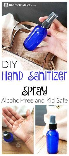 DIY Hand Sanitizer Spray {Alcohol-free and Kid Safe}