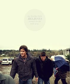 Dean & Sam Winchester Jensen Ackles & Jared Padalecki #Supernatural