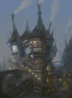 Fantasy town. Found on the Sony forums. Artist unknown