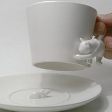 cat and mouse tea set