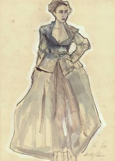 "Ute Rathmann; Drawing, ""Hommage à Van Dongen I"""