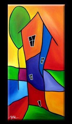 Art: Good Living - by Artist Thomas C. Fedro Art: Good Living - by Artist Thomas C. Art Fantaisiste, Arte Pop, Art Portfolio, Whimsical Art, Rock Art, Painting Inspiration, Art Lessons, Art For Kids, Modern Art