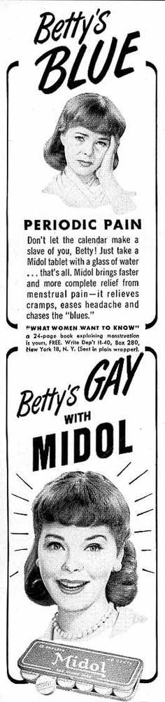 Betty's Gay with Midol! (Ad from 1960).