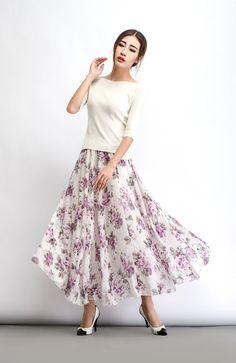 2015 NEW Summer Beach long skirt women print flower by YL1dress