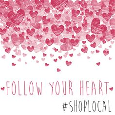 Follow your heart to B. Ellen Boutique and shop local this Valentine's Day! #shoplocal