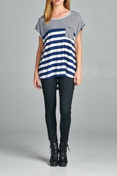 Striped Pocket Tee - main