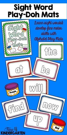 leaarnsight words and play with play-doh. Should you enjoy arts and crafts you actually will appreciate our site! Kindergarten Math Games, Rhyming Activities, Sight Word Activities, Preschool Literacy, Tactile Activities, Early Literacy, Word Games, Educational Activities, Preschool Activities