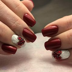 All information ideas of Mermaid Nails, Holographic Nails, Shattered Glass Nails Nail Tip Designs, Classy Nail Designs, Beautiful Nail Designs, Red Manicure, Pedicure Nails, Red Nails, French Nails, Fail Nails, Art Simple