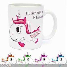 Unicorn Coffee Mug - I Don't Believe in Humans - Gift Ideas