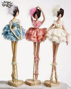 Craft linda: bailarines tildes