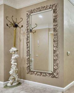 Dining Room Mirror Wall, Living Room Vanity, Hallway Mirror, Hallway Wall Decor, Living Room Mirrors, Floor Mirror, Hallway Decorating, Living Room Decor, Bedroom Decor