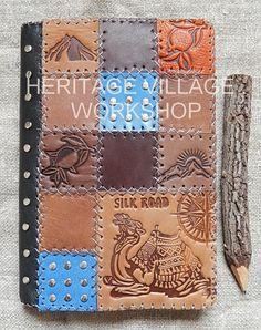 Silk road . Handmade leather  notebook with Silk road symbol  . Шелковый путь . Кожаный сувенирный  блокнот  с тиснением символики  Великого Шелкового пути .  #leather_notebook , #great_silk_road , #silk_road , #шёлковый_путь , #блокноты , #ежедневники , #ручная_работа , #кожаная_обложка , #верблюд , #караван