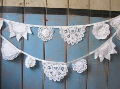 Vintage Doily Bunting. Wedding Bunting.  by buntingboutique, £28.00
