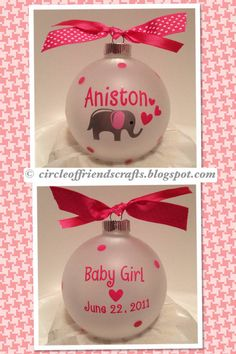 Photo on Baby Elephant Ornament | Cricut ideas