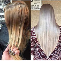 I applied on towel dried hair, Wella Koleston 9/8 with ...