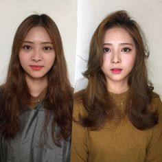 Choosing beautiful makeup style and suitable hairstyle - wavy hair for girls Modern Hairstyles, Permed Hairstyles, Fringe Hairstyles, Diy Hairstyles, Medium Hair Styles, Curly Hair Styles, 100 Human Hair Extensions, Air Dry Hair, Types Of Curls