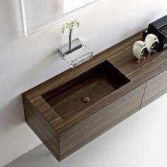 Moderne Badezimmermöbel - Unterschrank aus Massivholz