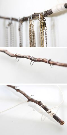 DIY Jewelry Holder Tutorial | Click Pic for 18 DIY Jewelry Storage Ideas for Small Bedrooms | Dollar Store Organizing Ideas for the Home