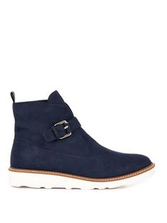 Bonnie faux-suede platform boots | Stella McCartney | MATCHESF...