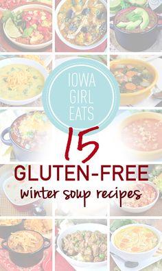 15 Gluten Free Winter Soup Recipes #glutenfree | iowagirleats.com