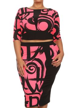 8a54979dfacfe Plus Size High Fashion Glam Two Piece Set – PLUSSIZEFIX Plus Size Clubwear