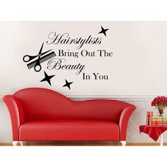 hairstylist quotes : Online Shopping - Bedding, Furniture, Electronics, Jewelry, Clothing & more Hairstylists Quote Beauty Salon Decor Makeup Cosmetic Hairdressin Vinyl Wall Art, Wall Decals, Vinyl Decals, Wall Stickers, Home Hair Salons, Beauty Salon Decor, Home Beauty Salon, Beauty Salons, Hairstylist Quotes