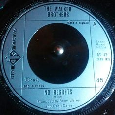 ..last night's spin! 🔘🎶 #noregrets #1975 #thewalkerbrothers #walkerwednesday #scottwalker . . #nowspinning #seventies #vinyl #45rpm #essexmusic #rock #vinylcollection #alansmusicstash #vinyladdict #vinylporn #vinylgram #gtorecords #recordcollection #70s #60s #vinylvideo #music #nowplaying #recordoftheday #bighit #vinyllovers