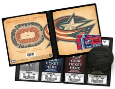 Columbus Blue Jackets Hockey Puck Ticket Display Stand - Team Logo ...