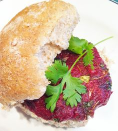 Delicious & healthy potato & betroot burger