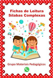 Educacao E Transformacao Fichas De Leitura Com Silabas
