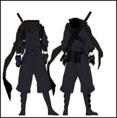costume design for ninja boy Fantasy Character Design, Character Design Inspiration, Mode Inspiration, Anime Outfits, Cool Outfits, Fashion Outfits, Mode Emo, Ninja Outfit, Drawing Anime Clothes