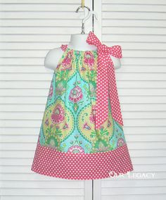 Little Livvy Pillowcase Dress... Choose your size infant 3 month up to girl's size 6 on Etsy, $21.95