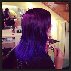 My work: purple to blue Ombré . Glama-Rama 304 Valencia@ 14th 415.861.4526