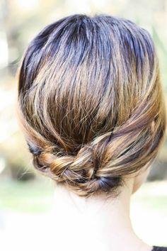 short updo 8 Killer Back to School Hairstyles for Short Hair