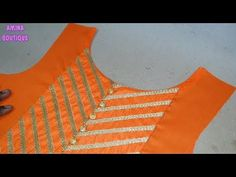Party Wear Boat Neck Designs Cutting and Stitching – dressideas Churidhar Neck Designs, Salwar Neck Designs, Churidar Designs, Neck Designs For Suits, Kurta Neck Design, Designs For Dresses, Blouse Neck Designs, Sleeve Designs, Dress Sewing Tutorials